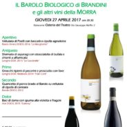 April 27 Degustation dinner featuring Il Barolo Biologico di Brandini e gli altri vini della Morra at Osteria del Teatro!!!