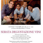Menu for Wine, Shine & Dine 10/17/13 Featuring Tommasi at Osteria del Teatro
